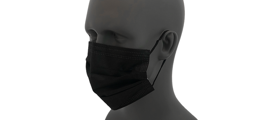 Black Pleated Face Mask - 182040BK