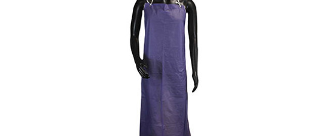 Blue Vinyl Apron w/ Strings - T8213548