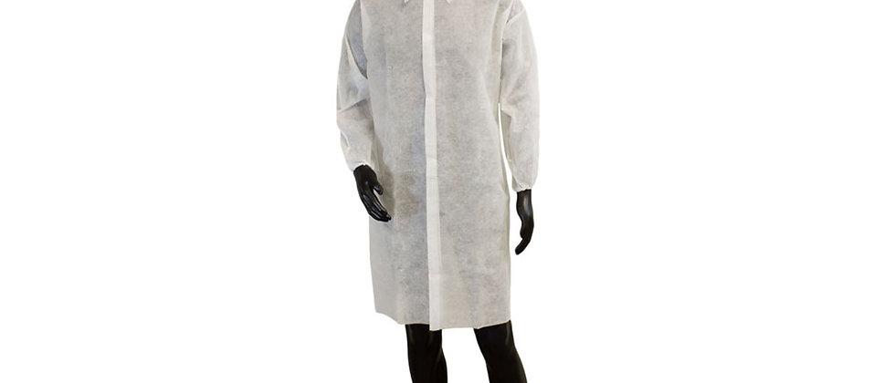 White Polypropylene Lab Coat - PW-LC