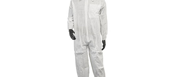 White SMS Coverall - 7357