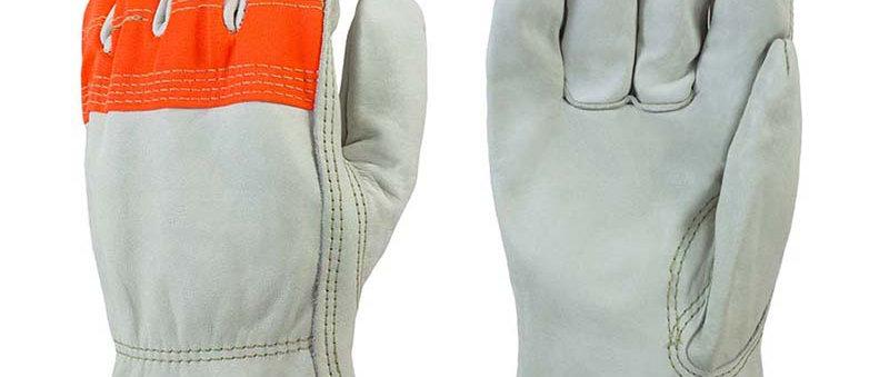Orange Fingertips & Back Leather Driver - 47243