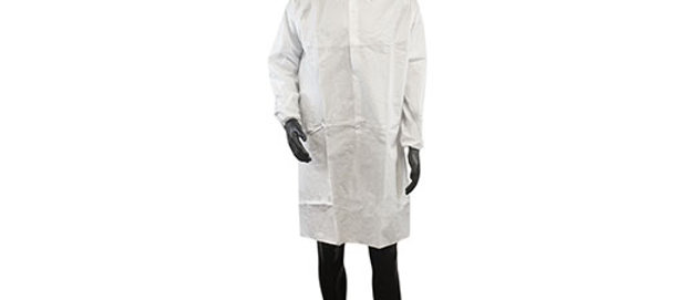 White Microporous Coated Lab Coat - 7446