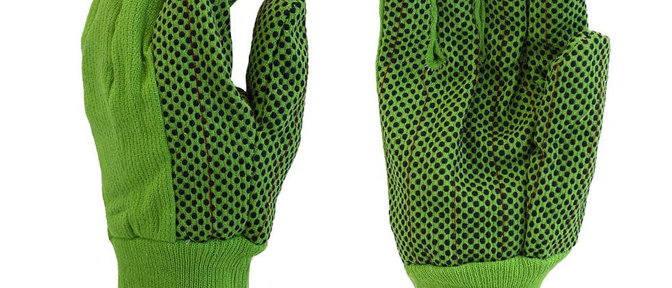 Lime Green w/ Black PVC Dots - A2378G