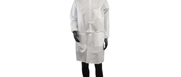 White Microporous Lab Coat - 7448