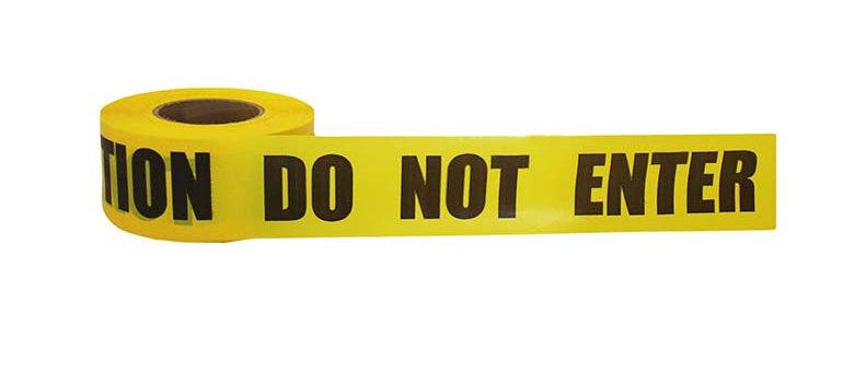 CAUTION DO NOT ENTER Barricade Tape - CDNE2