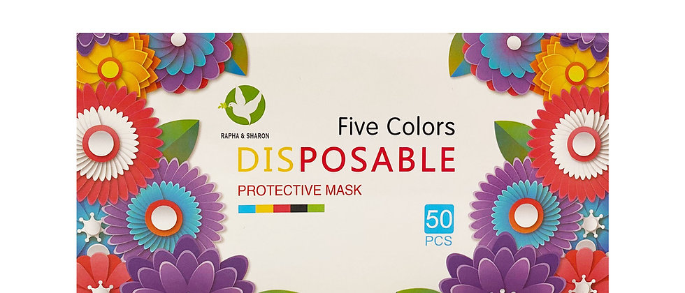 Five Color Pleated Face Mask - 1820405C
