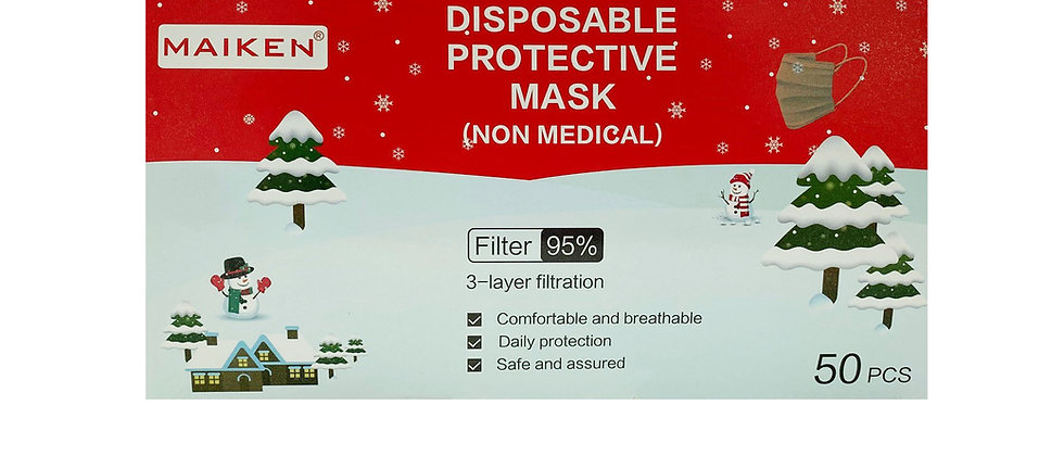 Christmas Pleated Face Mask - 182040X