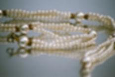 Perle halskæde Nærbillede 2