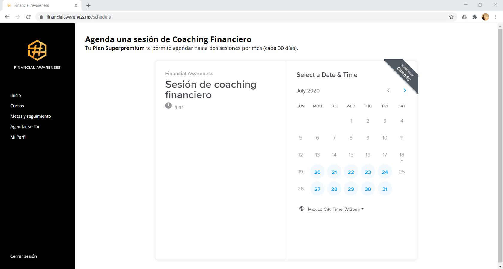 Agenda tu sesión financiera con tu coach experto