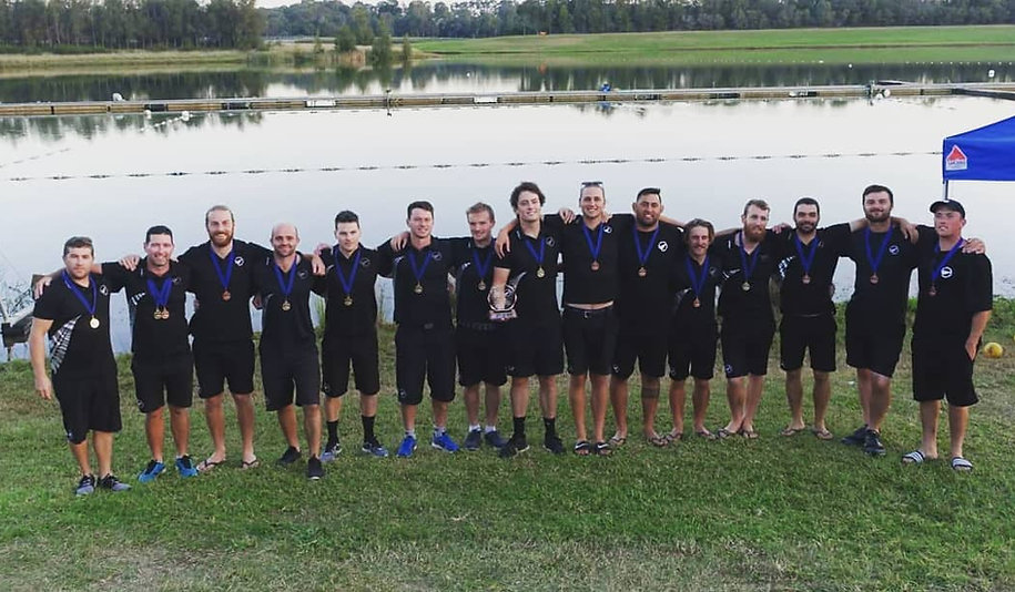 Paddle Blacks A and B Teamsat 2019OceaniaChampionships