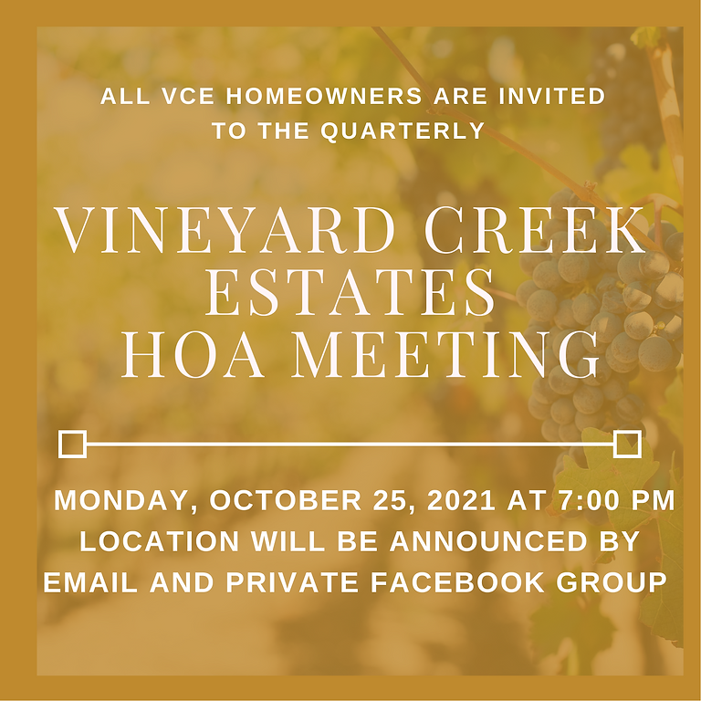 Quarterly HOA Meeting