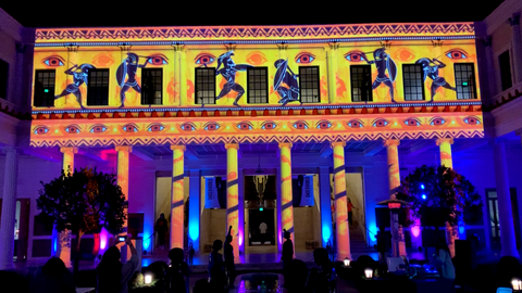 Getty Villa: Architectural Projection Mapping