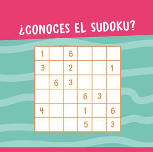 ¿Conocés el Sudoku?
