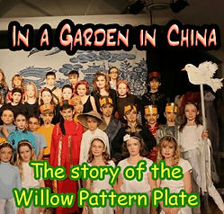 willow pattern,china,love story,assembly,chinese,ancient,pagoda,garden,bridges