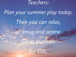 Time to plan your Summer play! Take a look at easyprimaryschoolplays.com featuring nice easy musical