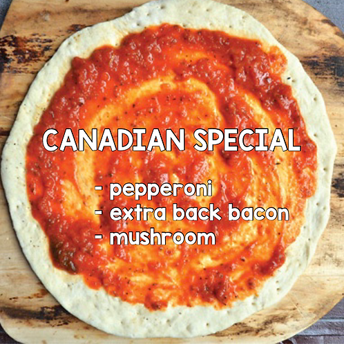 CANADIAN SPECIAL - Frozen 'Take and Bake' Pizza