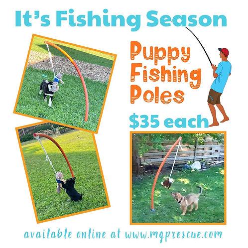 Puppy Fishing Pole