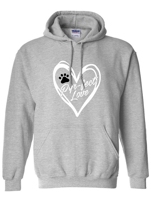 Perfect Love light grey pullover hoodie