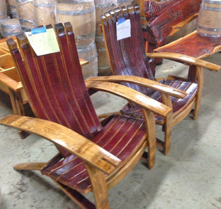 Barrel Adirondack Chairs And Stools