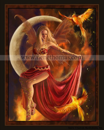 Fire Moon 8 x 10 Print
