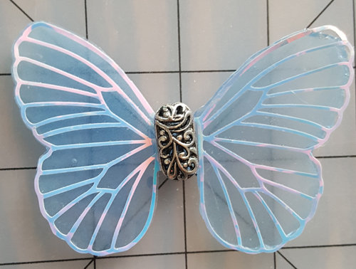 Mystic White Veined Blue Decorative Resin Butterfly (Slight Imperfections)