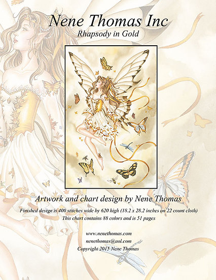 Orchestral Series #1: Rhapsody in Gold Regular Cross-Stitch (Downloadable PDF)
