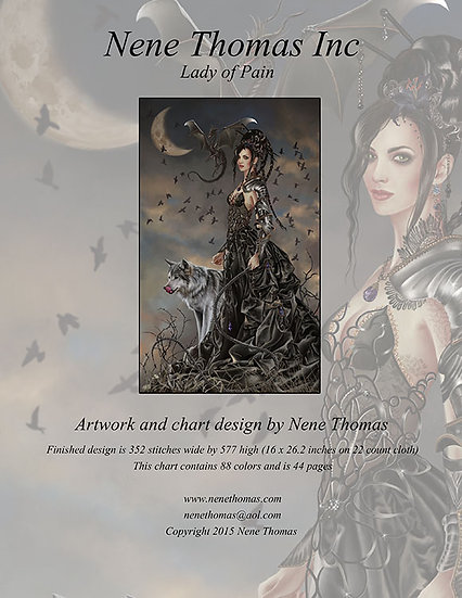 Bellamaestra, Lady of Pain Regular Cross-Stitch (Downloadable PDF)