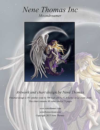 Moon Dreamer Regular Cross-Stitch (Downloadable PDF)
