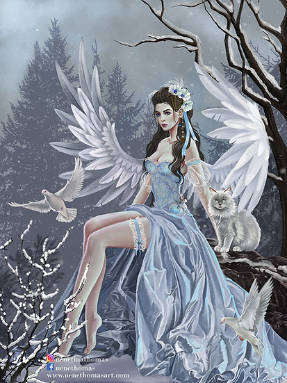 Winter Angel Art Print