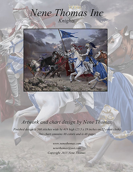 Knights Regular Printed Cross-Stitch