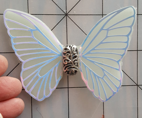Elegance White Veined Decorative Resin Butterfly