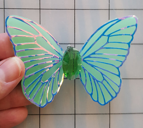 Elegance Emerald with jewel Decorative Resin Butterfly