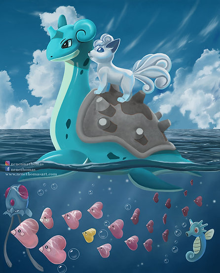 Water Pokemon Art Print