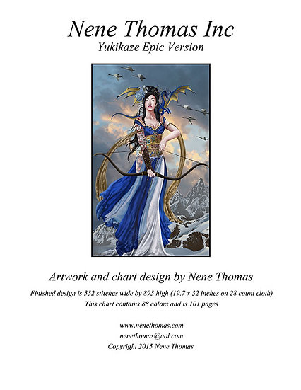 Yukikaze, Lady of Winds Epic Cross-Stitch (Downloadable PDF)
