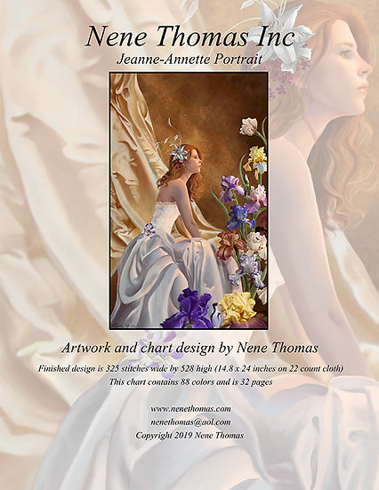 Jeanne-Annette Portrait Regular Cross-Stitch (Downloadable PDF)