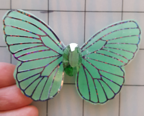 Mystic Emerald with jewel Decorative Resin Butterfly
