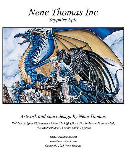 Sapphire Epic Printed Cross-Stitch