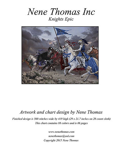 Knights Epic Cross-Stitch (Downloadable PDF)