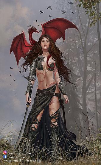 Furionchires, Queen of Battles Art Print