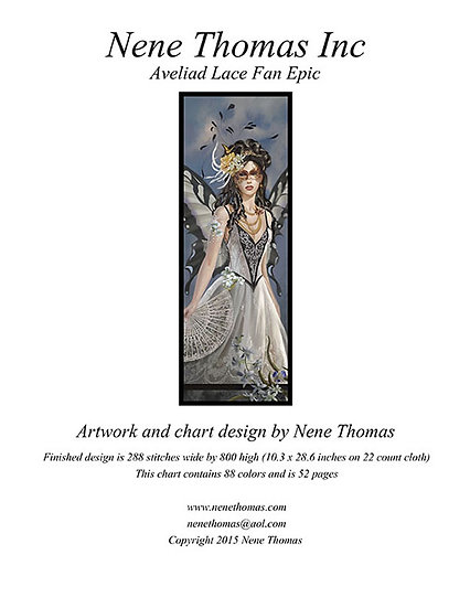 Aveliad Lace Fan Epic Cross-Stitch (Downloadable PDF)