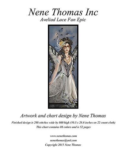 Aveliad Lace Fan Epic Cross-Stitch (Downloadable PDF)
