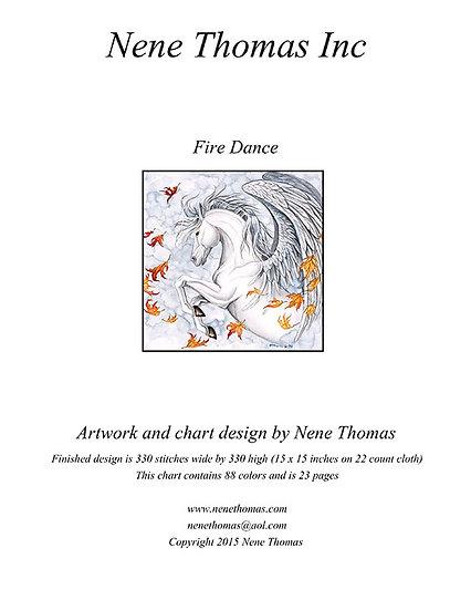 Fire Dance Regular Cross-Stitch (Downloadable PDF)