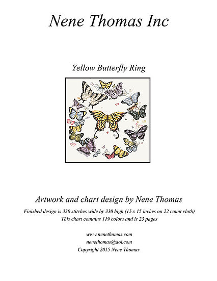Butterfly Set: Yellow Butterfly Regular Printed Cross-Stitch