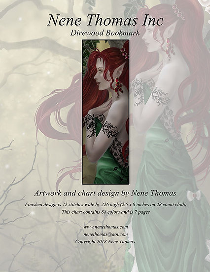 Faery Seasons: Direwood Bookmark Printed Regular Cross-Stitch