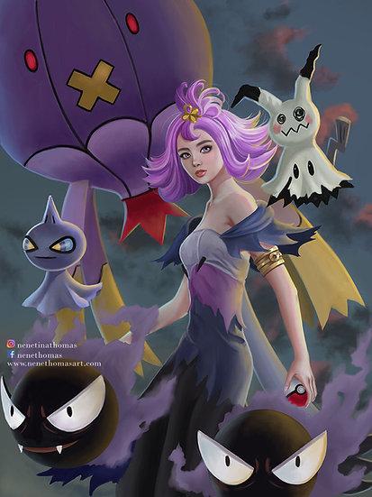 Ghost Pokemon and Acerola Art Print