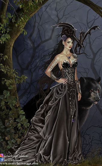 Mistress of the Lycani Art Print