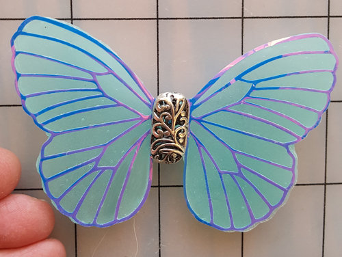 Mystic Aquamarine Decorative Resin Butterfly