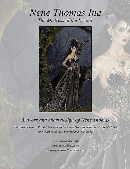 Mistress of the Lycani Regular Cross-Stitch (Downloadable PDF)