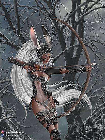 Snow Bunny 2 Art Print