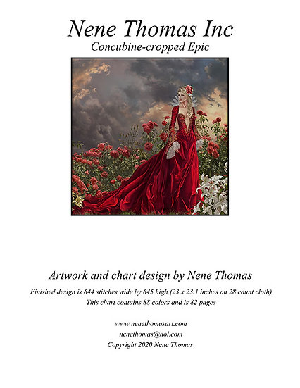 Concubine Cropped Epic Cross-Stitch (Downloadable PDF)